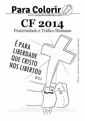 Desenho da Campanha da Fraternidade 2014 para colorir