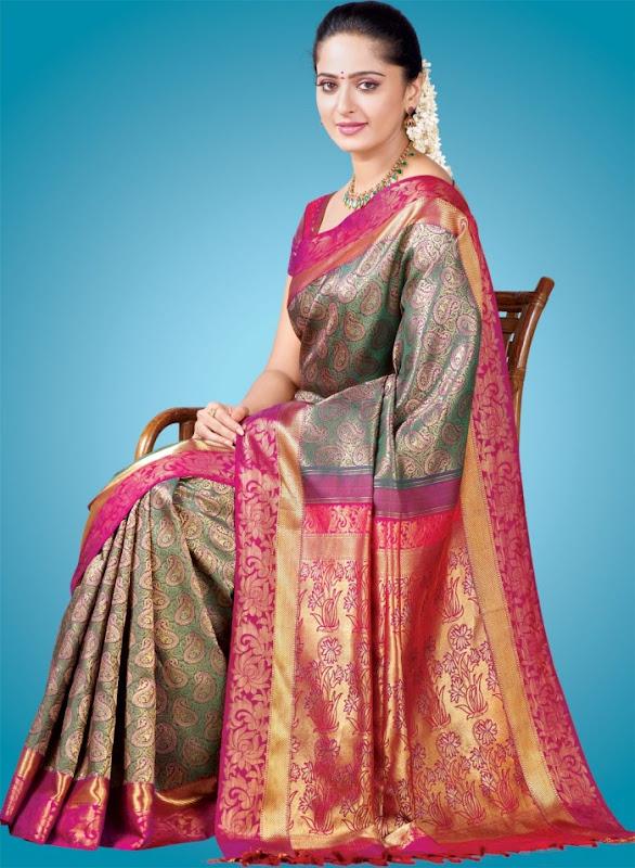Anushka at Chennai Silks Photoshoot hot photos