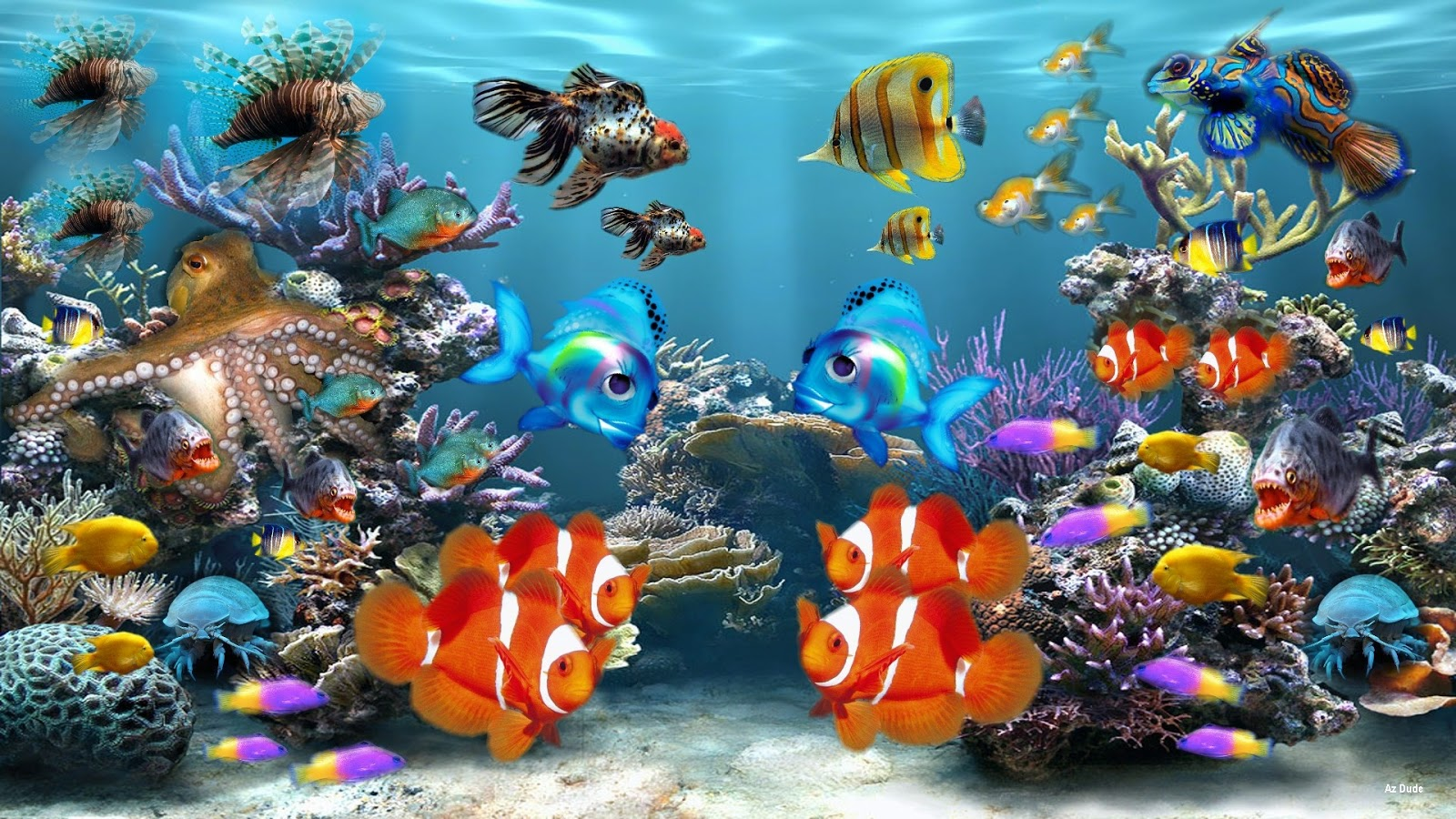 Fishes in aquarium queen dressed fishes in aquarium a dotted fish