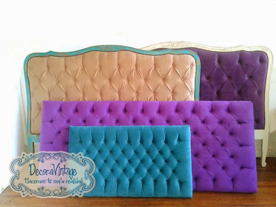 Hacemos tu sofa realidad respaldos de cama respaldos - Telas para forrar cabecero cama ...