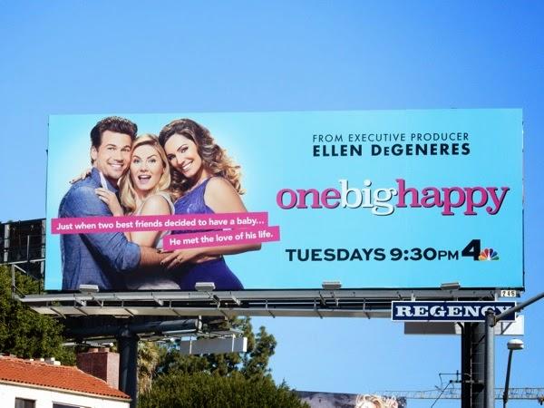 One Big Happy series premiere billboard