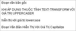 Thuộc tính text-transform