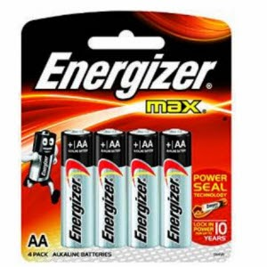 Amazon :Energizer MAX Alkaline Battery E91BP4 AA pack of 8 at Rs.155 only
