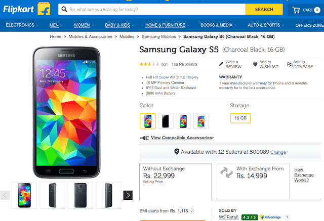 Samsung Galaxy S5 now available for just Rs. 14,999 under exchange