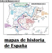 Selección de mapas de elaboración propia para el estudio de la historia de España
