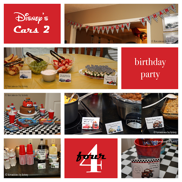 Cars 2 Birthday Party | kreations by kristy