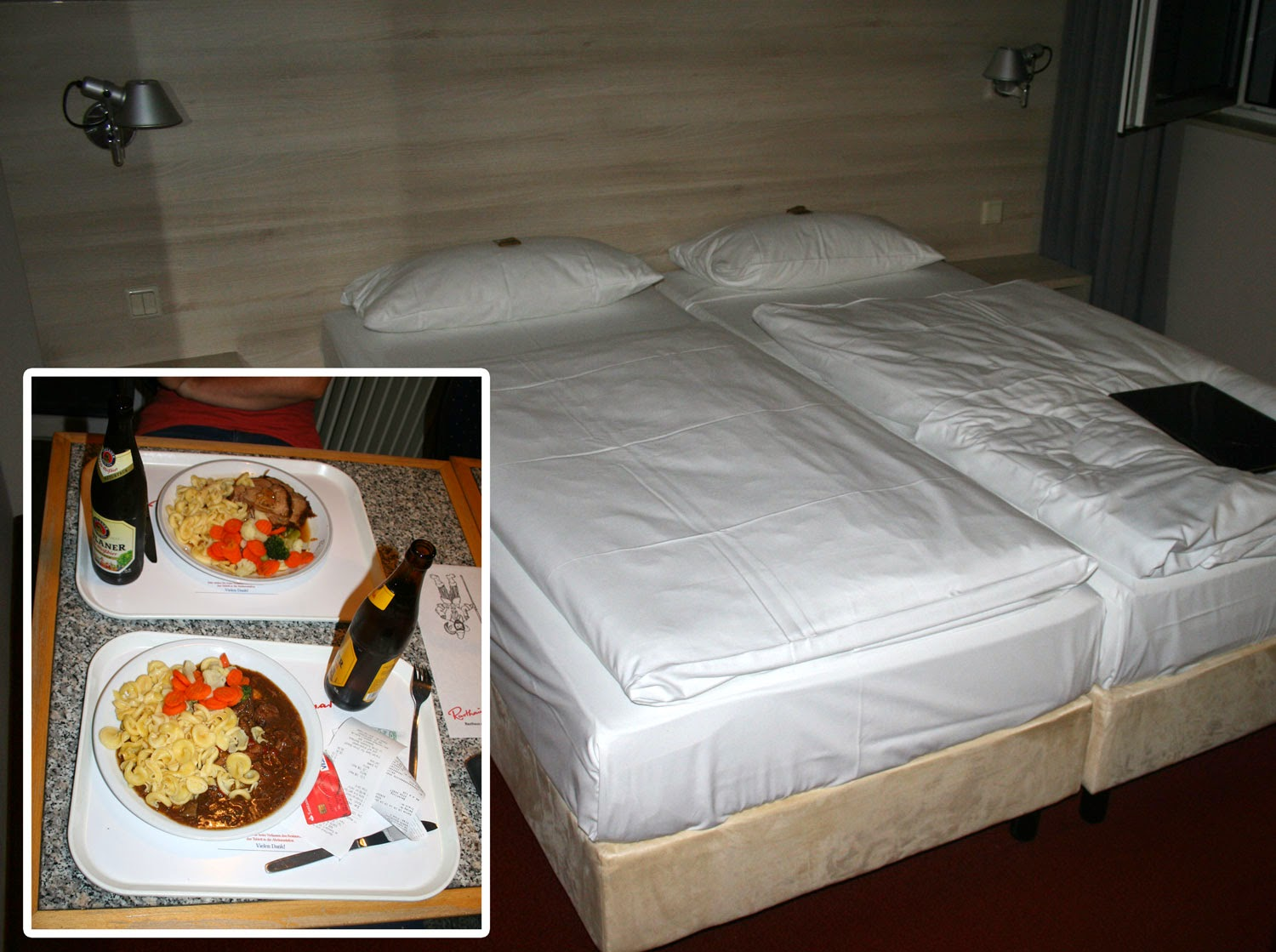 Our room and our dinner