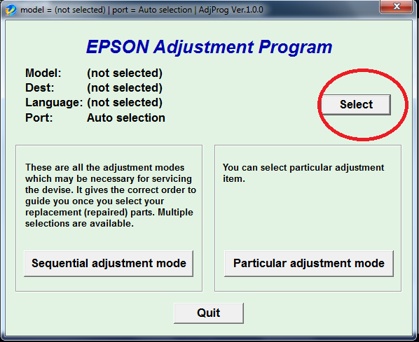 how to reset epson l210 waste ink pad