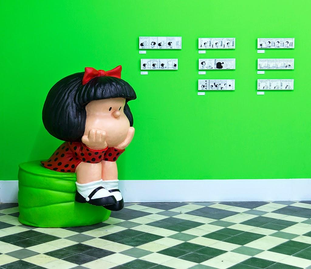 Fotografías exposición Mafalda