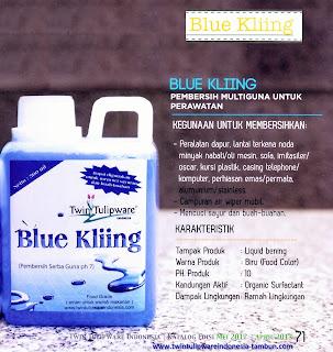 Info & Harga Twin Tulip Tulipware 2014 : Blue Kliing - Pembersih