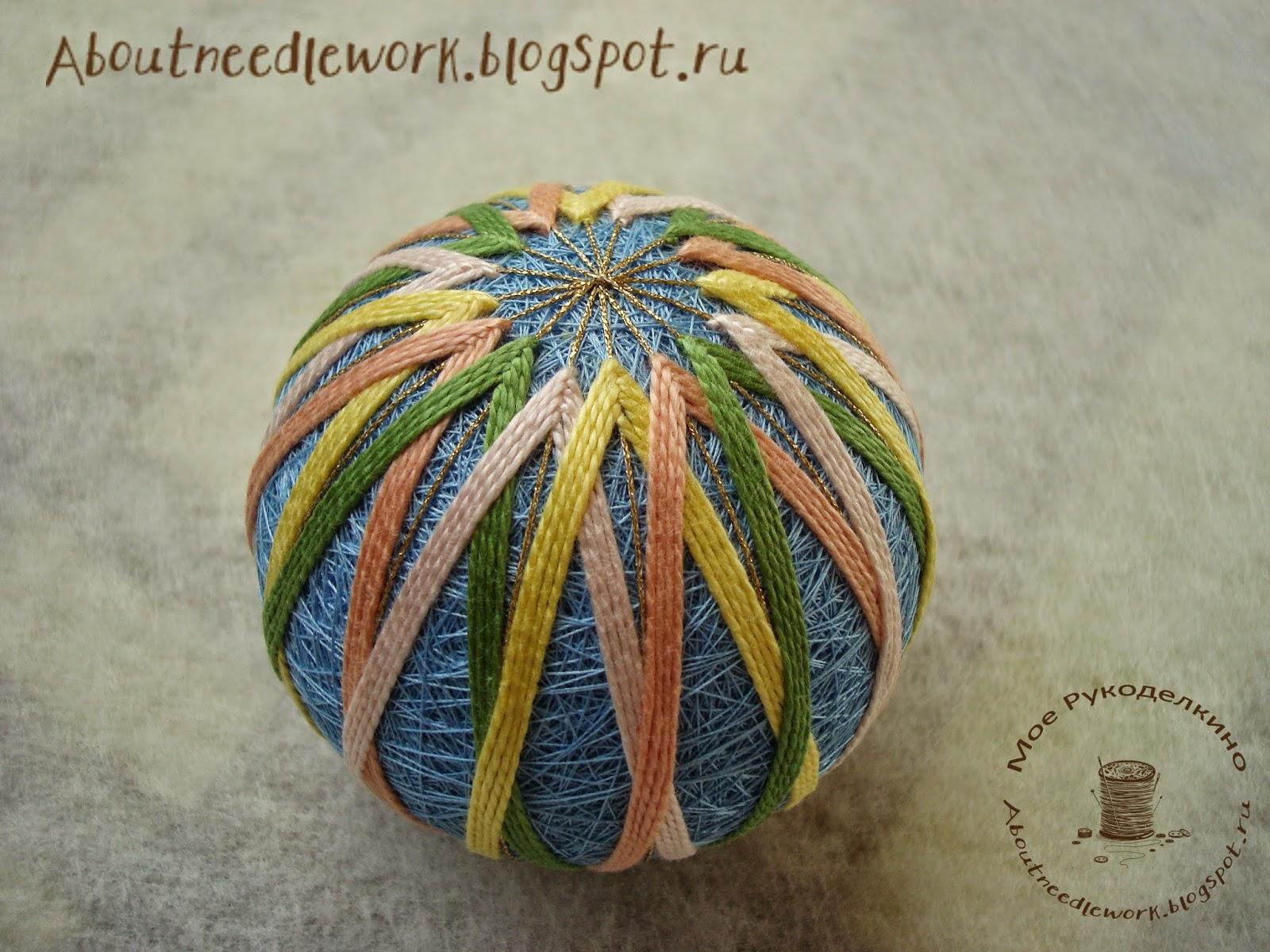 Вышивка японских шаров темари