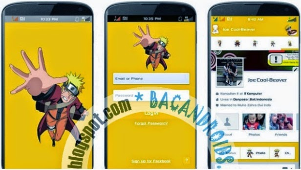 Facebook Mod Terbaru tema naruto kuning
