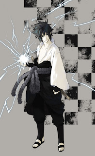 Sasuke with casual chidori