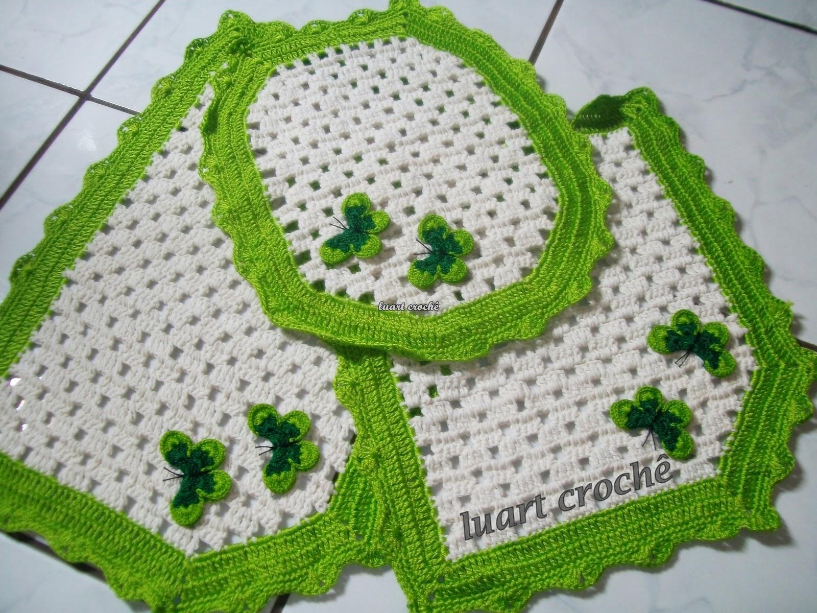 Luart Crochê #417410 1600x1200 Banheiro Bonito Simples