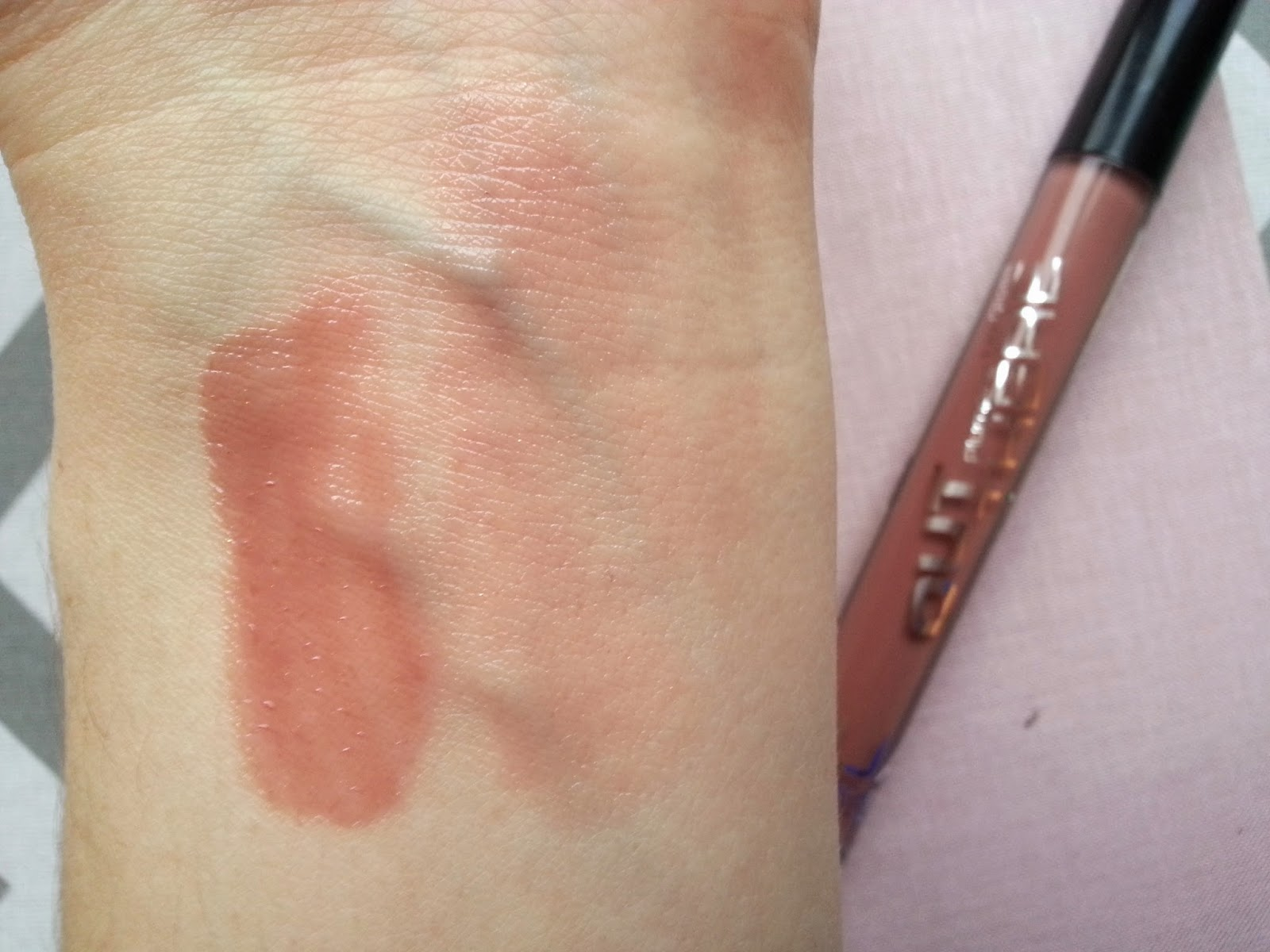 MUA Out There Plumping Lip Gloss in Buff Review Swatches