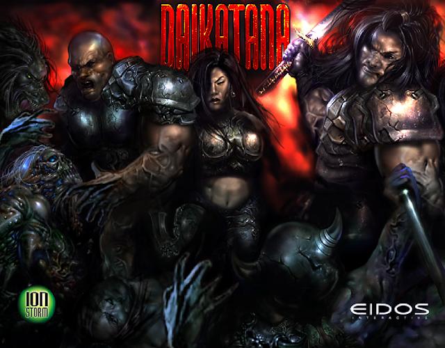 John Romero's Daikatana PC title screen