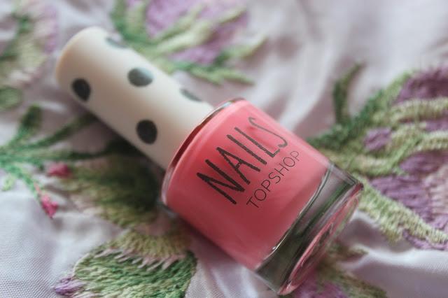 topshop flamingo coral nail polish