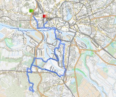 Sindt Consulting Cycling Team Trainingsrunde ab Bahrenfeld / Altona