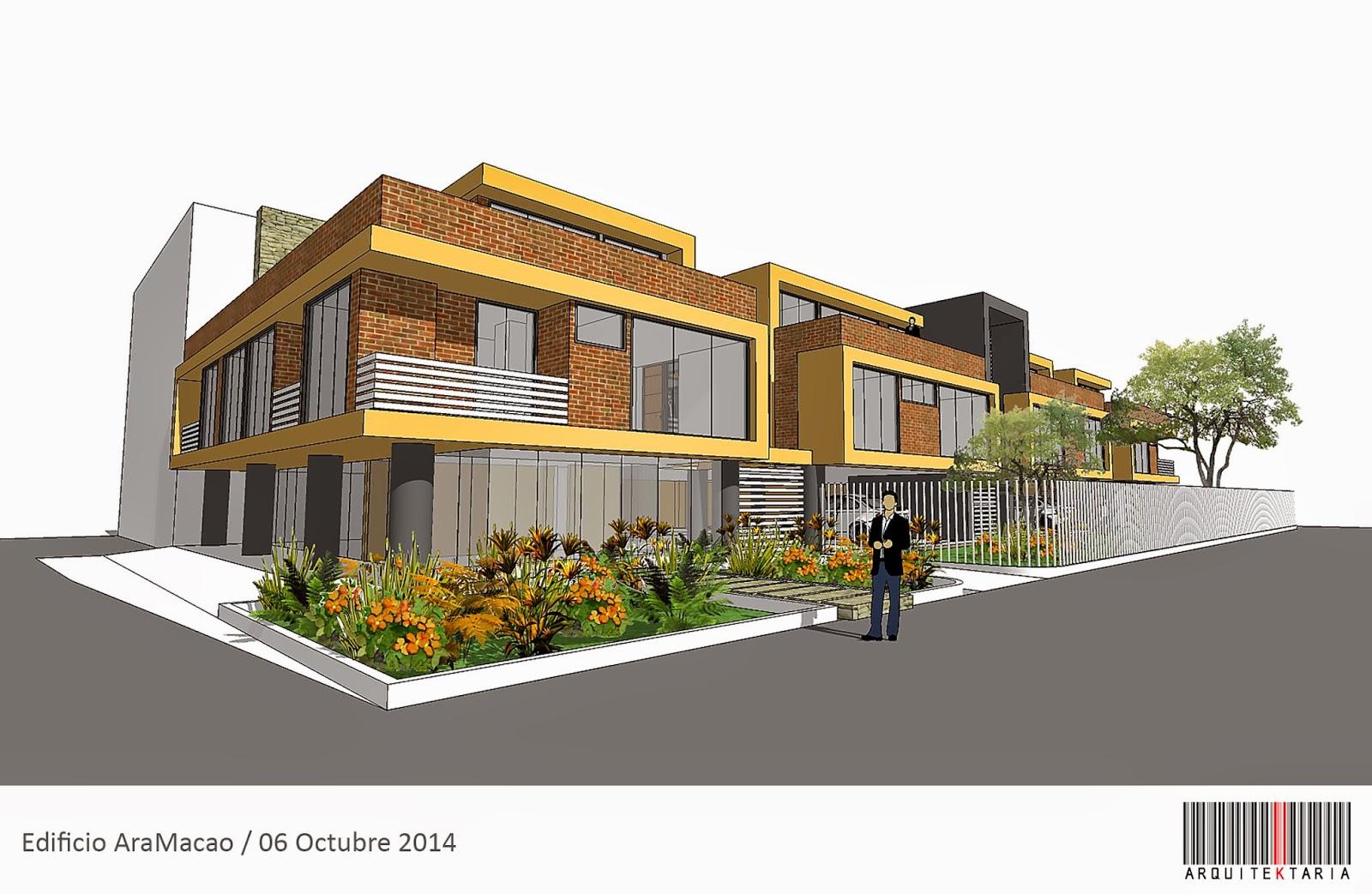 Dise o edificio de apartamentos aramacao cota for Diseno de edificios