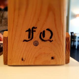 French Quarter Cafe Portarlington Wooden engraved holder