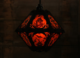 View One of The Pumpkin Dream Halloween lantern by Robert Aaron Wiley for Bindelgrim