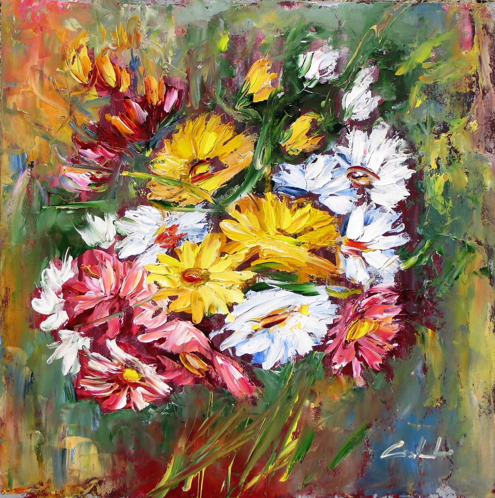 Fantasia e realta 39 arte for Quadri fiori olio