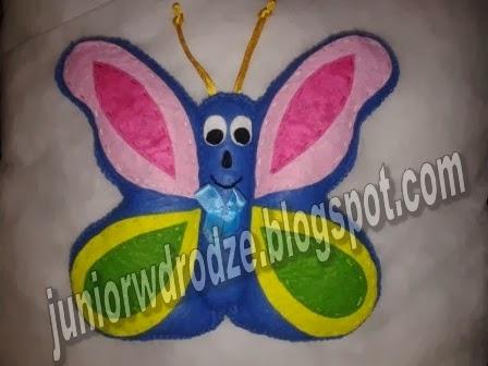 Maskotka z filcu - Motyl
