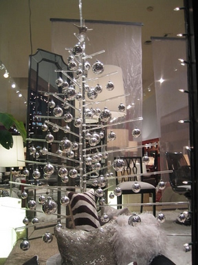 [Christmas tree made of chrome balls]