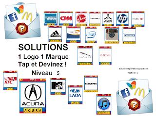 Solution 1 logo 1 marque quiz tap et devinez niveau 5