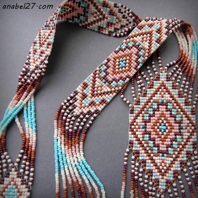 купить гердан из бисера этно стиль бохо украшения