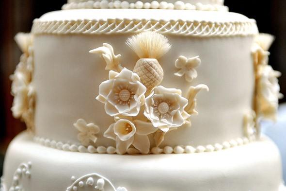 England Rose Cake Stencil