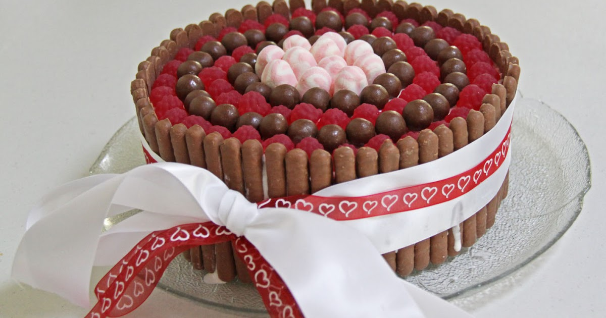 Chocolate Raspberry Ice Cream Cake Maltesers