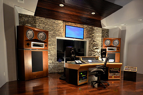 Custom Monitor Mount Sound Recording Studio Design