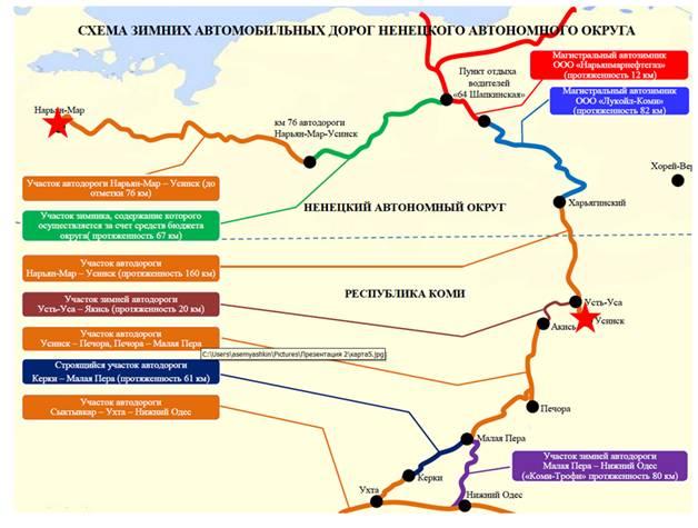 Расстояние от Нарьян-Мар до
