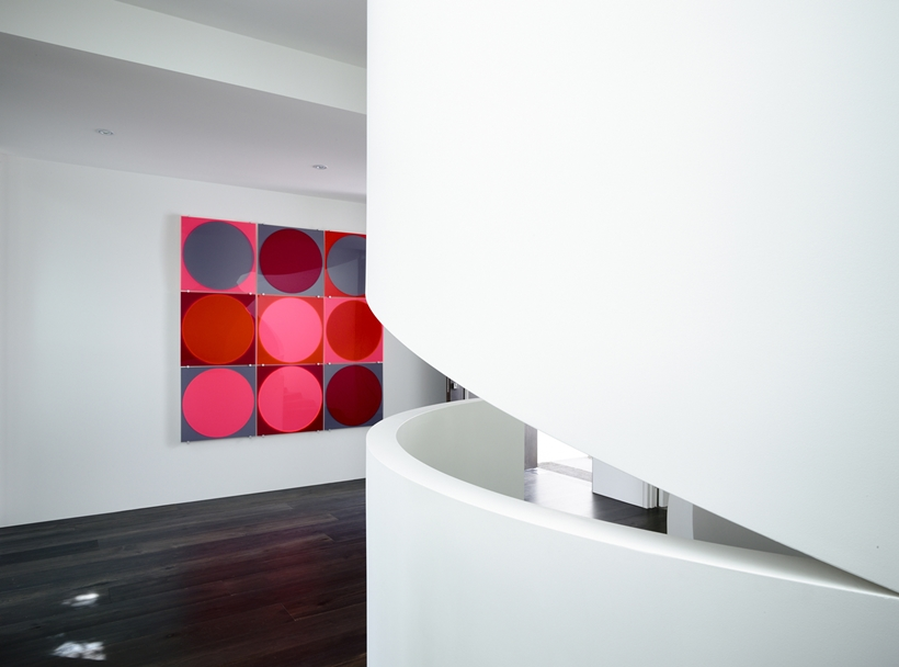 Art in the Perfect Modern Townhouse by Martin Friedrich Architects