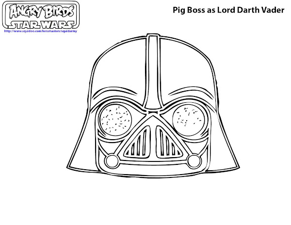 Angry Birds Star Wars Darth Vader Coloring Pages