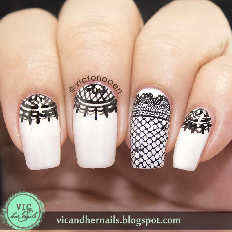 Nail Strips Review Black Lace
