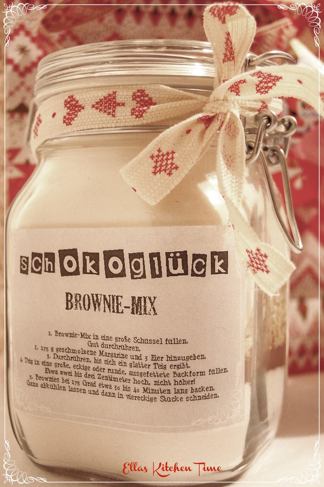 Ella\'s Kitchen Time: Geschenke aus der Küche: Brownie-Mix und ...
