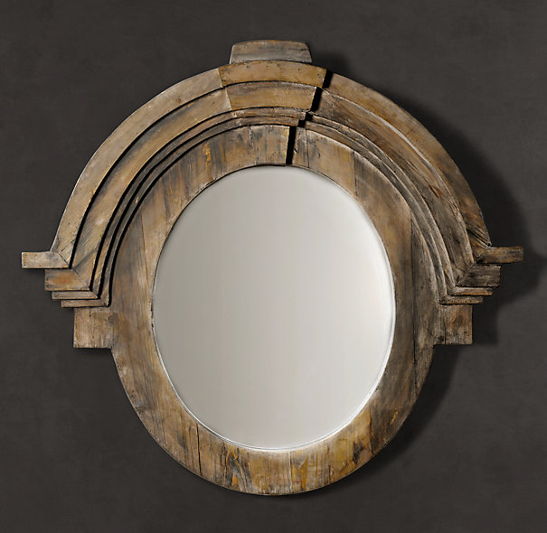 Fantastic Restoration Hardware Wood Mirror Salvaged Wood Catalog Bathroom Mirror