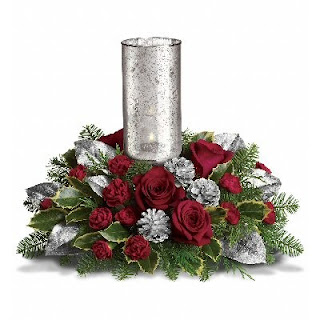Teleflora Silver Glow Centerpiece for the Holidays