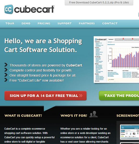 Ecommerce Website Name : CubeCart
