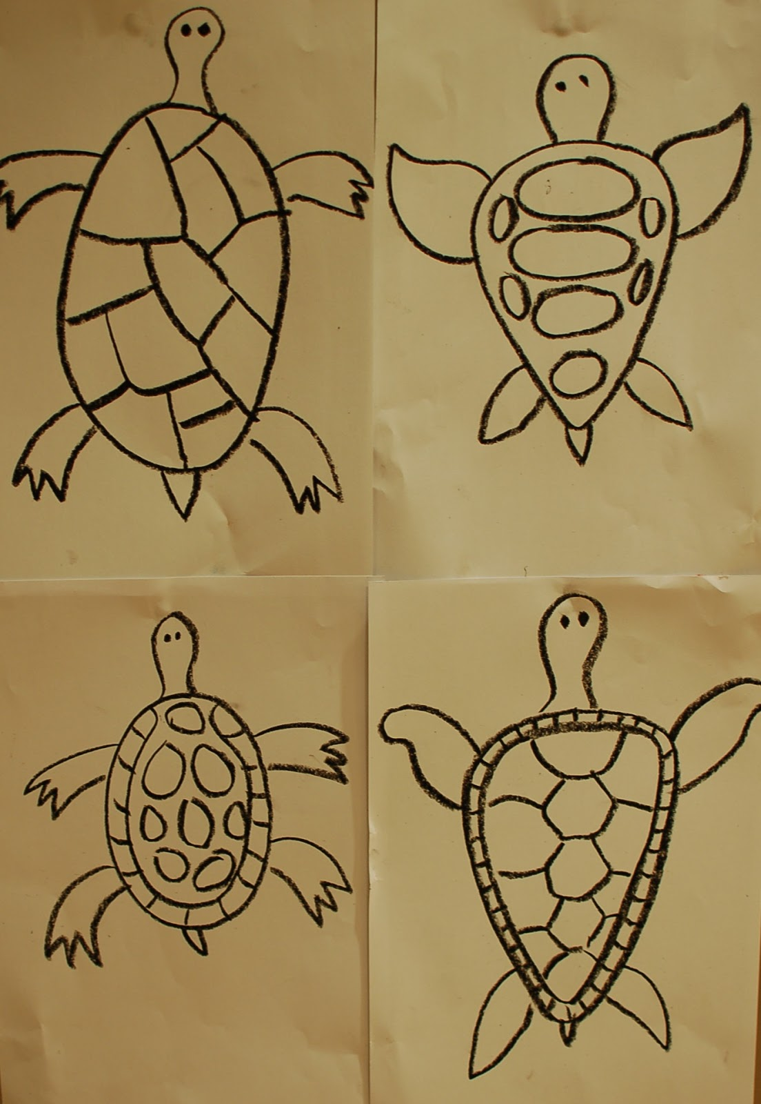 Sunnyside art house watercolour turtles using warm and for Cool stuff to draw on a whiteboard