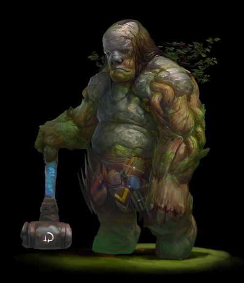 Stepan Alekseev ilustrações digitais fantasia violência Troll