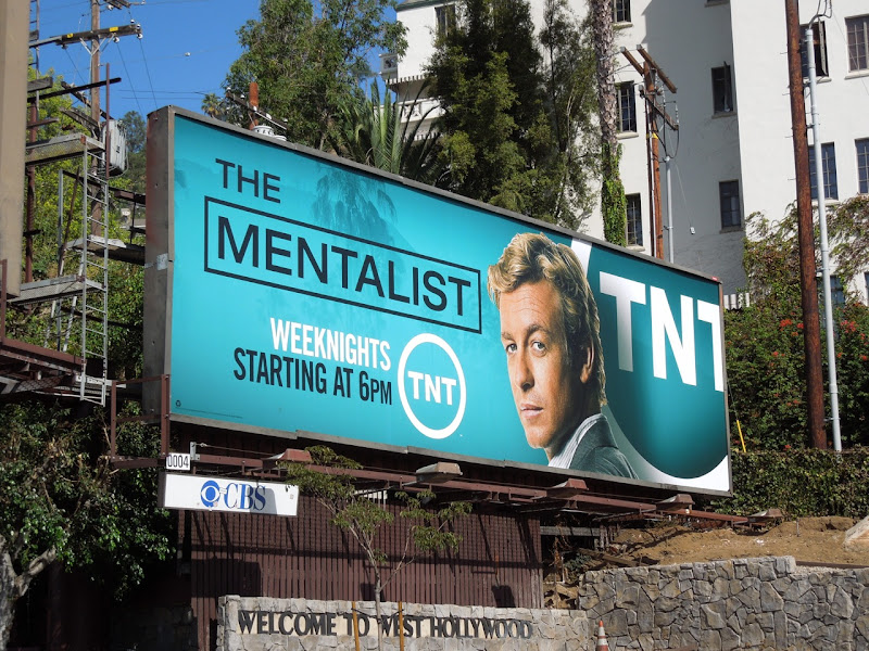 Mentalist TNT September 2012 billboard