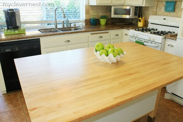 Ikea Kitchen Island Varde clever nest: sealing butcher block {kitchen reveal!}