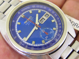 SEIKO CHRONOGRAPH 6139 6012 SUNBURST BLUE DIAL - AUTOMATIC