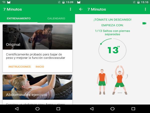 Apps para Android - Entrenamiento de 7 minutos