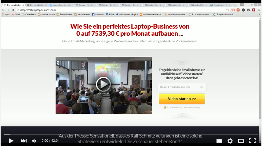 perfektes Laptop-Business