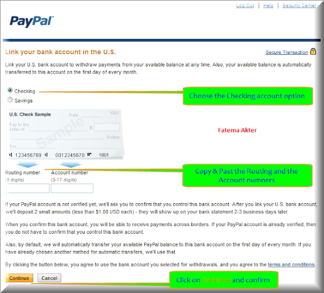 how to connect your bank account to paypal