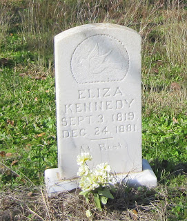 Gravestone of Eliza Kennedy